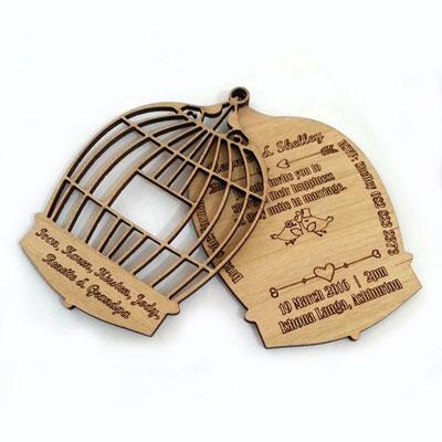 Birdcage wedding invitation