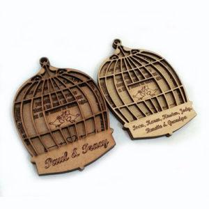 Birdcage Wedding Invitation 005