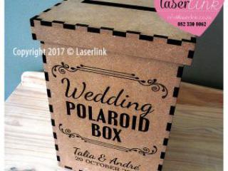 Wooden envelope box for weddings