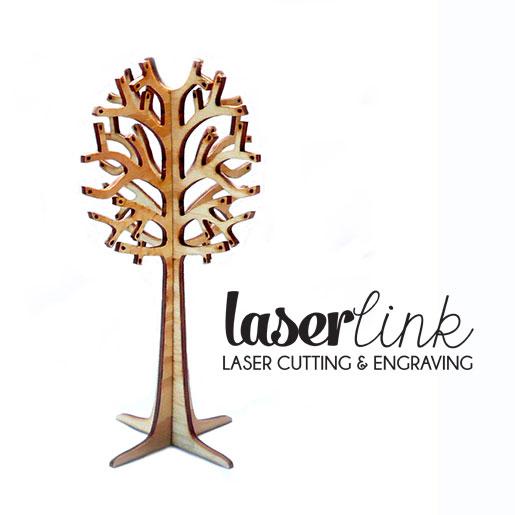 laser cut jewellery tree