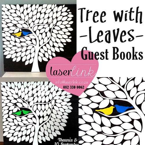 Leafy Tree Wedding Guest Book