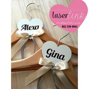 Personalized Bridal Party Wooden Hangers