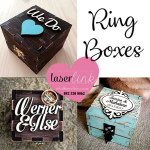 Branded wooden business card boxes laserlink personalized wedding ring boxes reheart Image collections