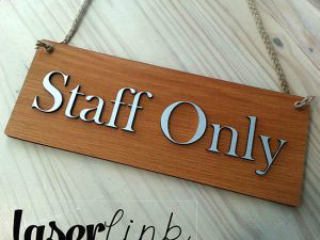 staff only sign boards