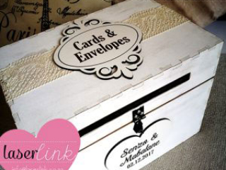 Personalized wooden envelope box