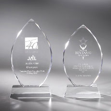 crystal trophy engraving