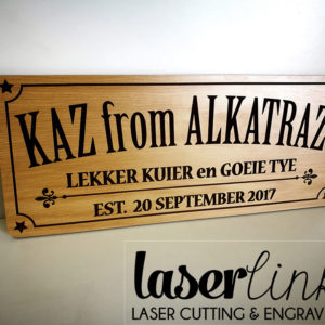Engraved Wooden Sign Board
