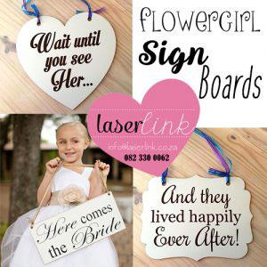 flower girl sign boards