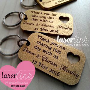 laser cut gold keyrings