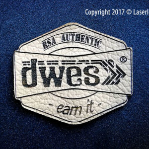 laser engraved leather