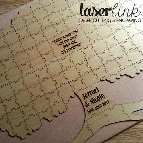 puzzle guest book instructions