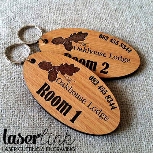 wooden lodge keyrings