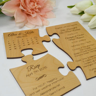 Wooden Wedding Invitations Laserlink