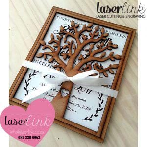 wooden wedding invitations