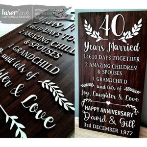 Wooden Wedding Sign Board 001