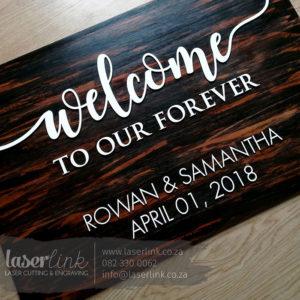 Wooden Wedding Sign Board 005