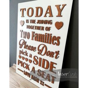 Wooden Wedding Sign Board 008
