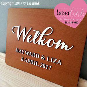 Wooden Wedding Sign Board 009