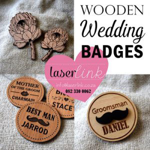wedding badges