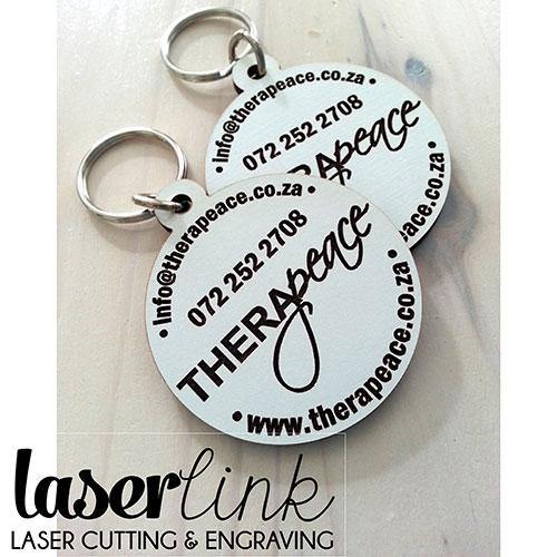Branded Keyrings - Wooden & Laser Engraved