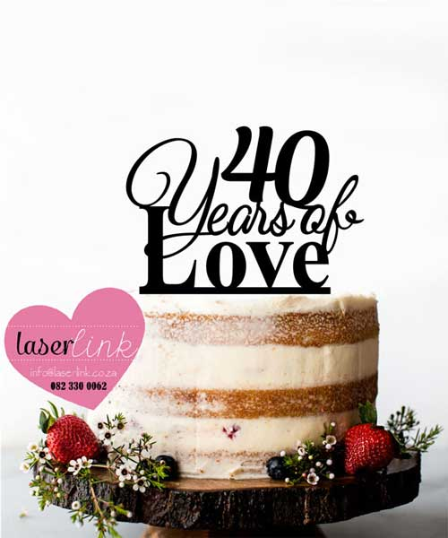 40 years loved cake topper
