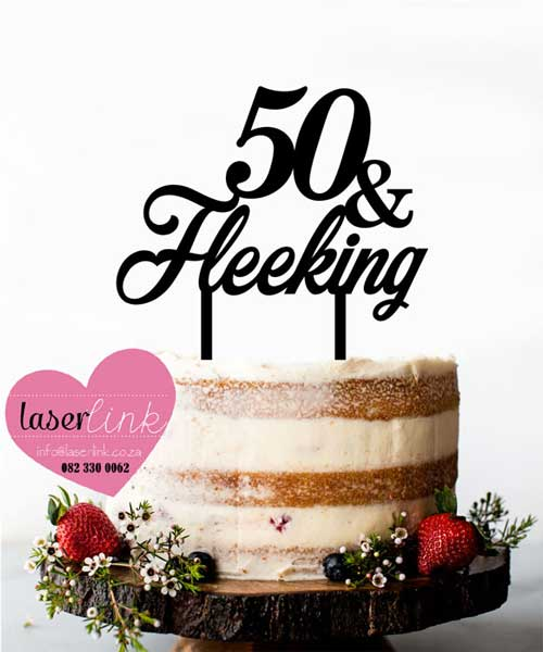 50 birthday cake topper