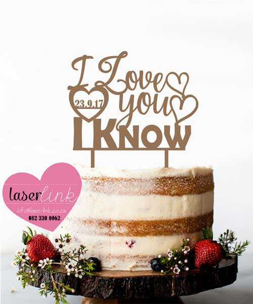 wooden love cake toppers