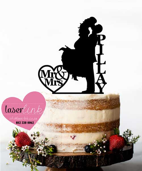 bride groom kissing cake topper wedding
