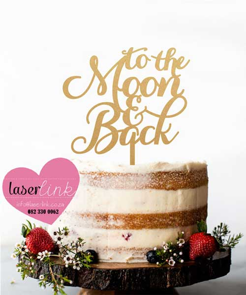 to the moon cake topper gold