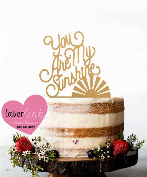 sunshine gold cake topper