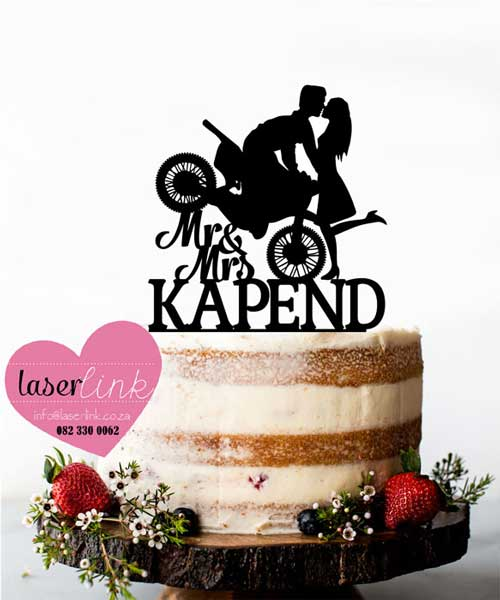 motorbike cake topper wedding