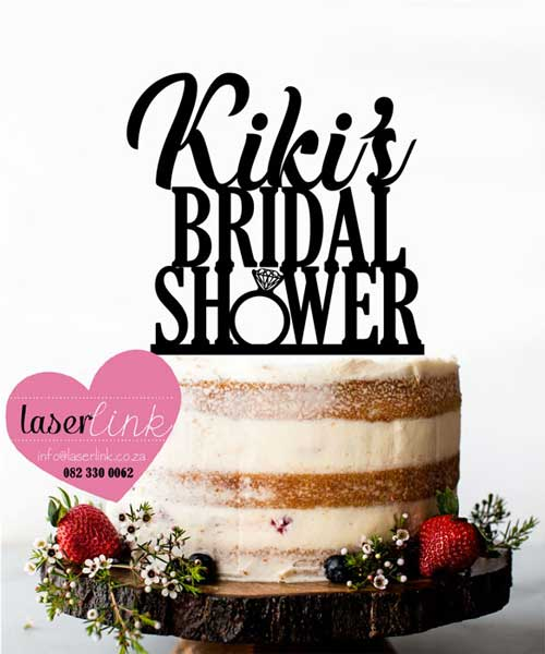 bridal shower ring cake topper