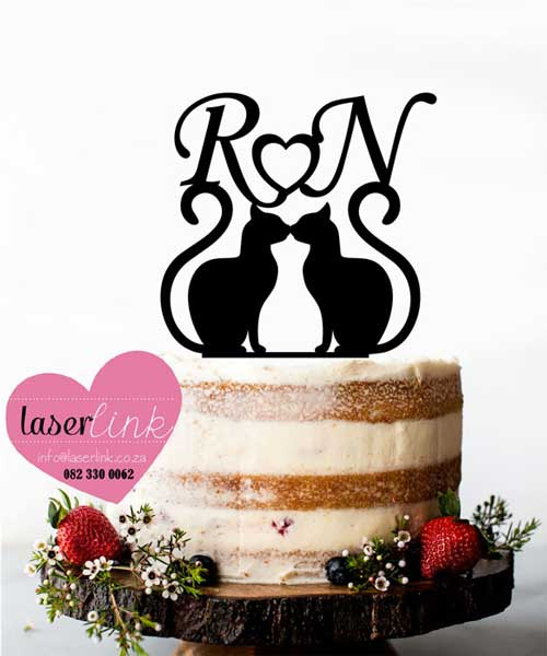 cat kitty cake topper