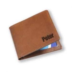 Laser Cut and Engrave Leather Wallet