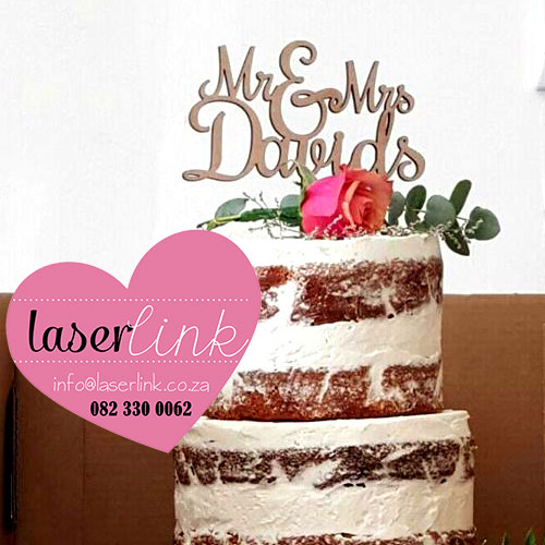 cake toppers wedding wooden surname