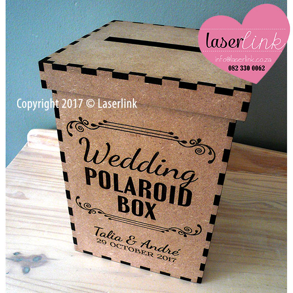 Personalized Wooden Envelope Boxes - Laserlink