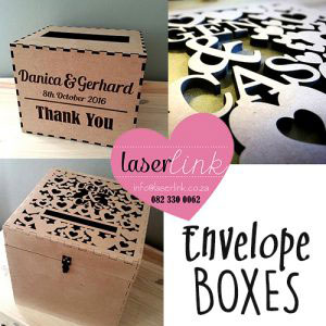Personalized wooden envelope boxes