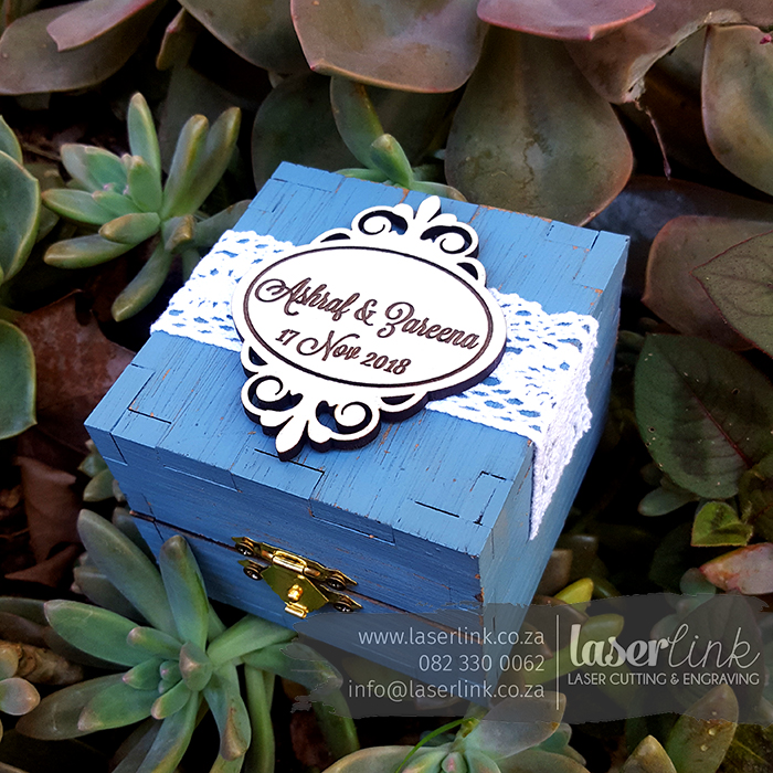 rustic ring boxes wedding