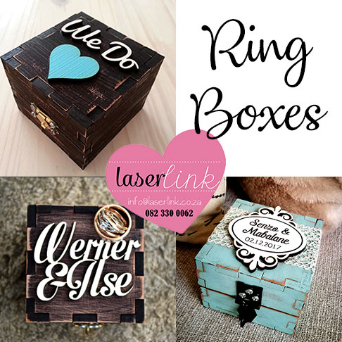 Personalized Wedding Ring Boxes Laserlink