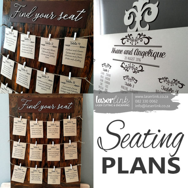 Seating Plans for Weddings and Functions