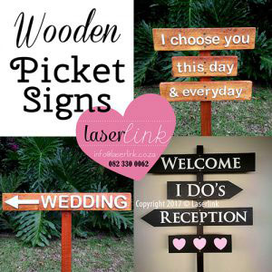 wedding picket signs