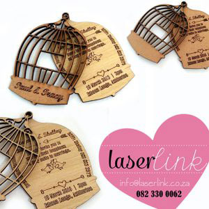 birdcage wedding invitations