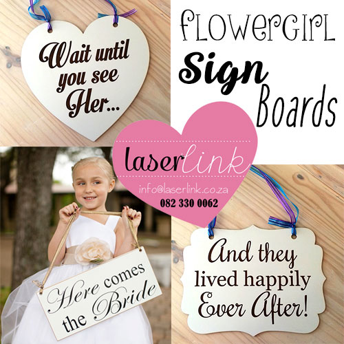 flower girl sign boards