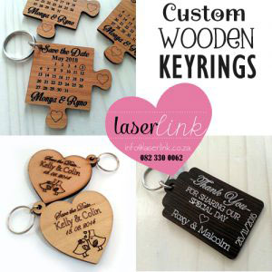 laser cut wooden keyrings