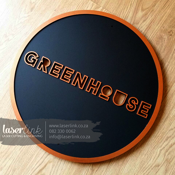 black copper sign board logo