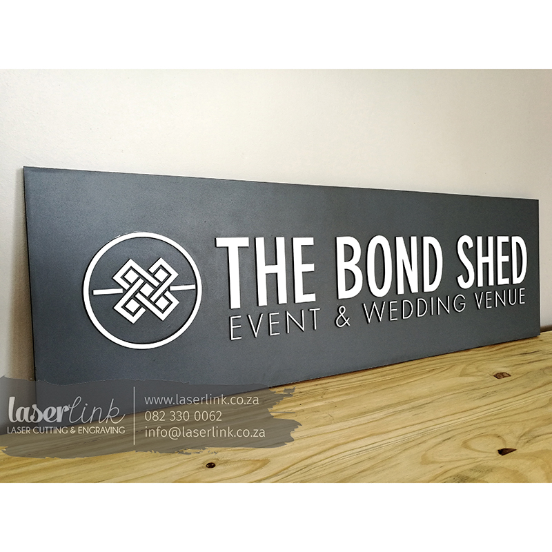 laser cut sign board logo branded