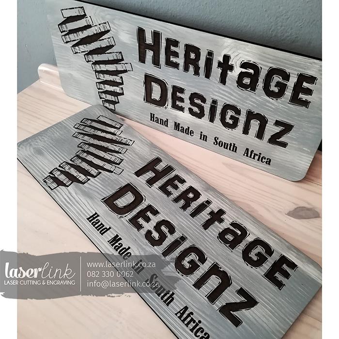 laser engraved wooden sign boards