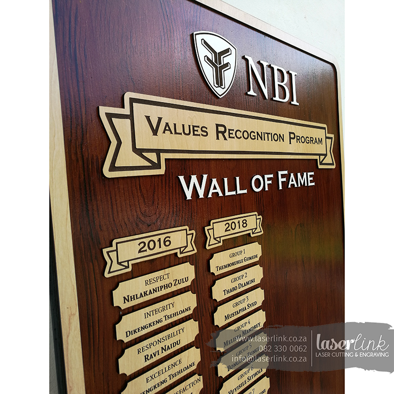wall of fame wooden boards