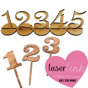 laser cut wooden table numbers