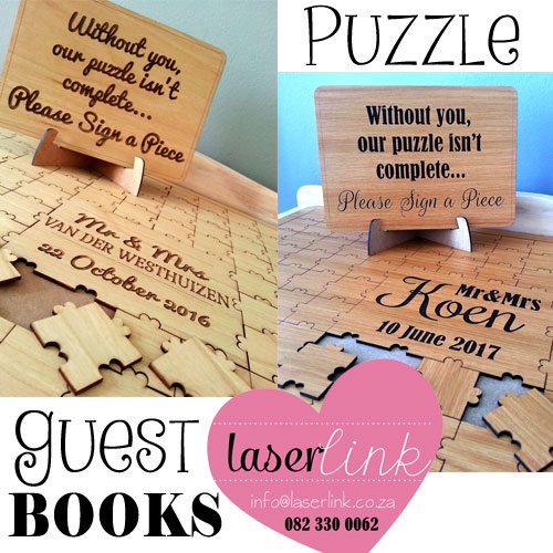Puzzle Piece Guest Book For Weddings